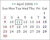 休日表示カレンダースクリプト(イギリス版)