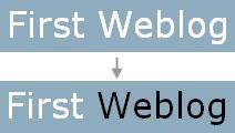 ブログタイトルを分割して異なるスタイルを設定する