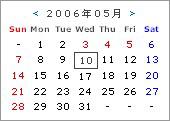 FC2ブログ用休日表示付リアルタイムカレンダー