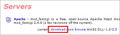 FastCGIのトップページ