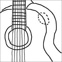 かじられたギター