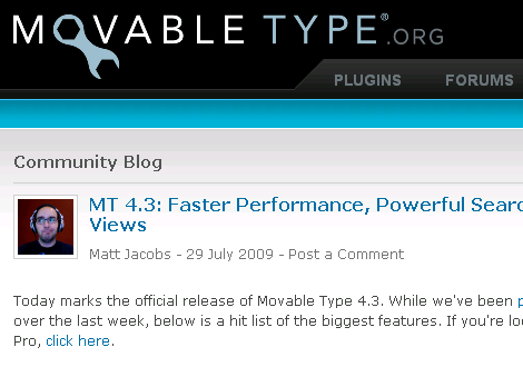 Movable Type 4.3
