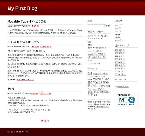 アップグレード前のブログ