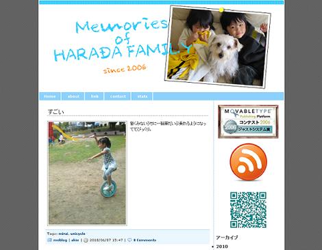 Memories of HARADA Family