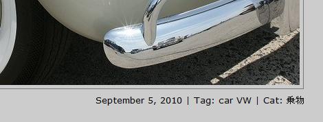 ブログ記事情報を画像の右下に表示