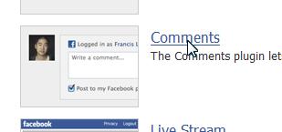 「Social Plugins」のページ