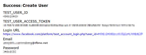 テストユーザー作成成功