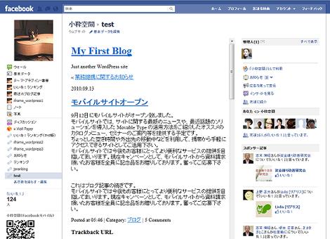 Facebookページ(IE9)