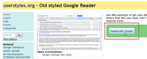 Old styled Google Reader