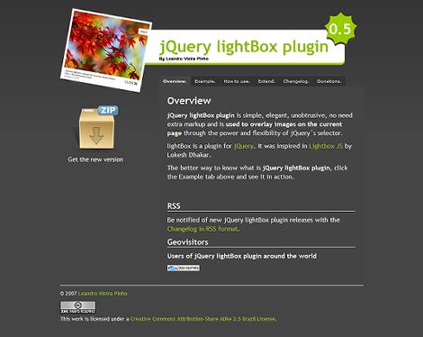 jQuery lightBox plugin