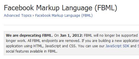 Facebook Markup Language (FBML)