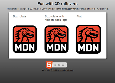 Fun with 3D rollovers