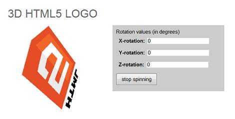 3D HTML5 LOGO