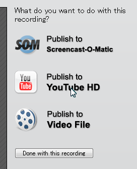 Publish to YouTube HD