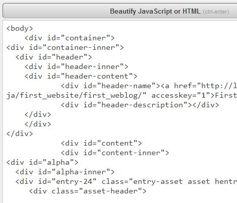 HTML(整形前)