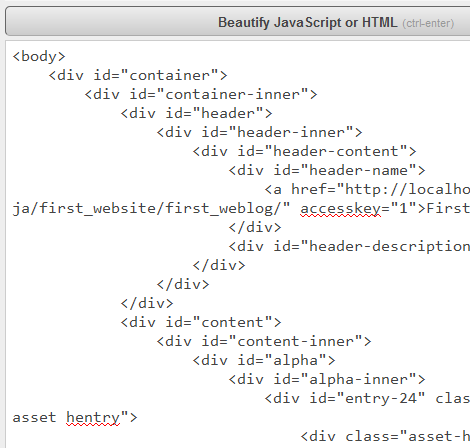 HTML(整形後)