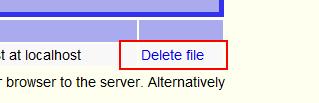 サーバ上のSQLファイルを削除