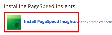 Using PageSpeed Insights for Google Chrome
