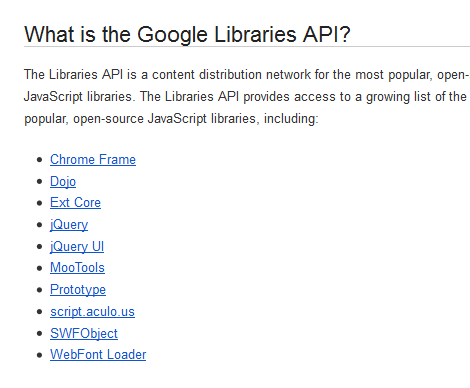 Google Libraries API