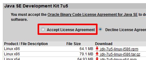 Java SE Development Kit 7u5