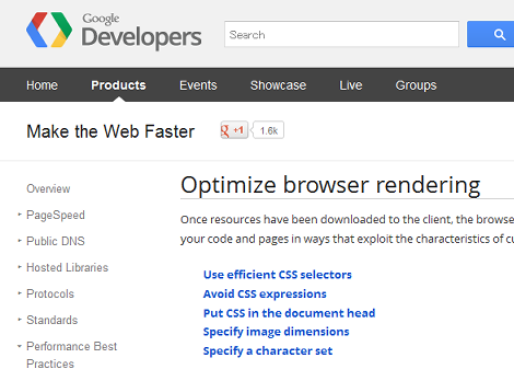 Optimize browser rendering