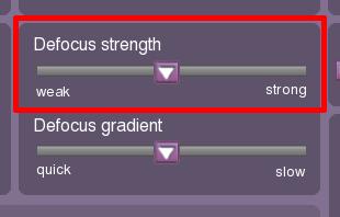 Defocus strength