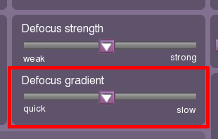 Defocus gradient