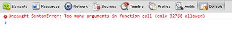 JavaScriptエラー(Google Chrome)