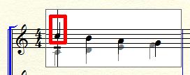 変換後の楽譜