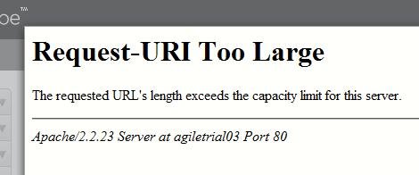 Request-URI Too Large