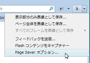 Page Saverオプション
