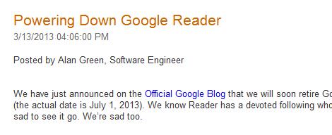 Powering Down Google Reader