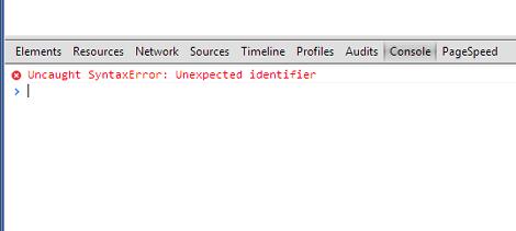 JavaScriptエラーメッセージ