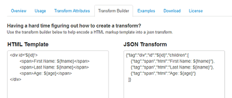 Transform Builder