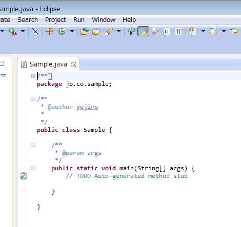 Javaクラスのソースコード