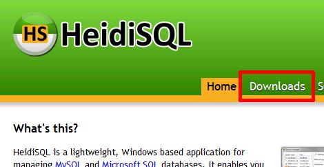 HeidiSQLのページ