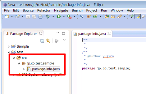how to add package-info.java in eclipse