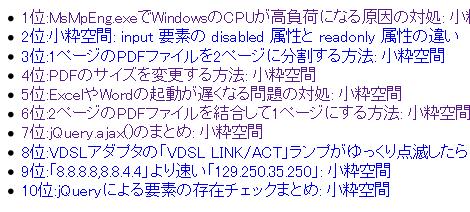 Movable TypeのDataAPIでアクセスランキングを表示