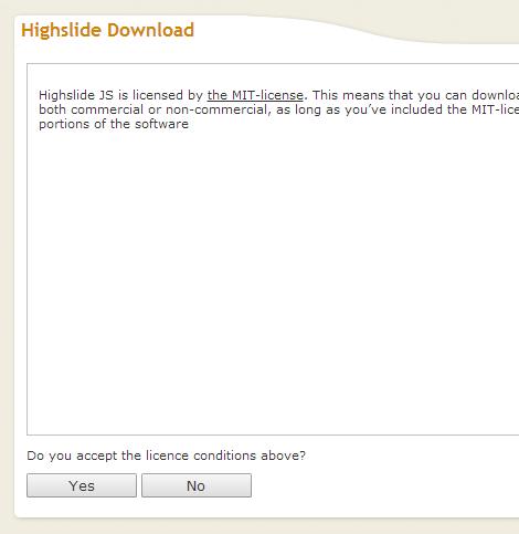Highslide JS ダウンロード