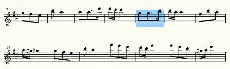 複数の小節を次の組段へ移動
