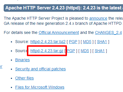 httpd-2.4.23.tar.gz