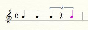 4分音符を入力