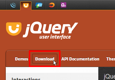 jQuery UIのページ