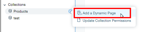 Add a Dynamic Page