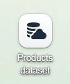 Products dataset