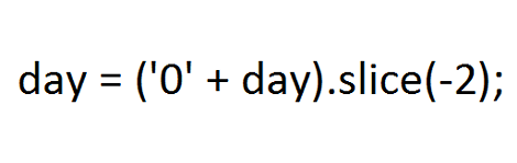 JavaScriptの時間を0パディングする