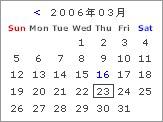 月送りカレンダー